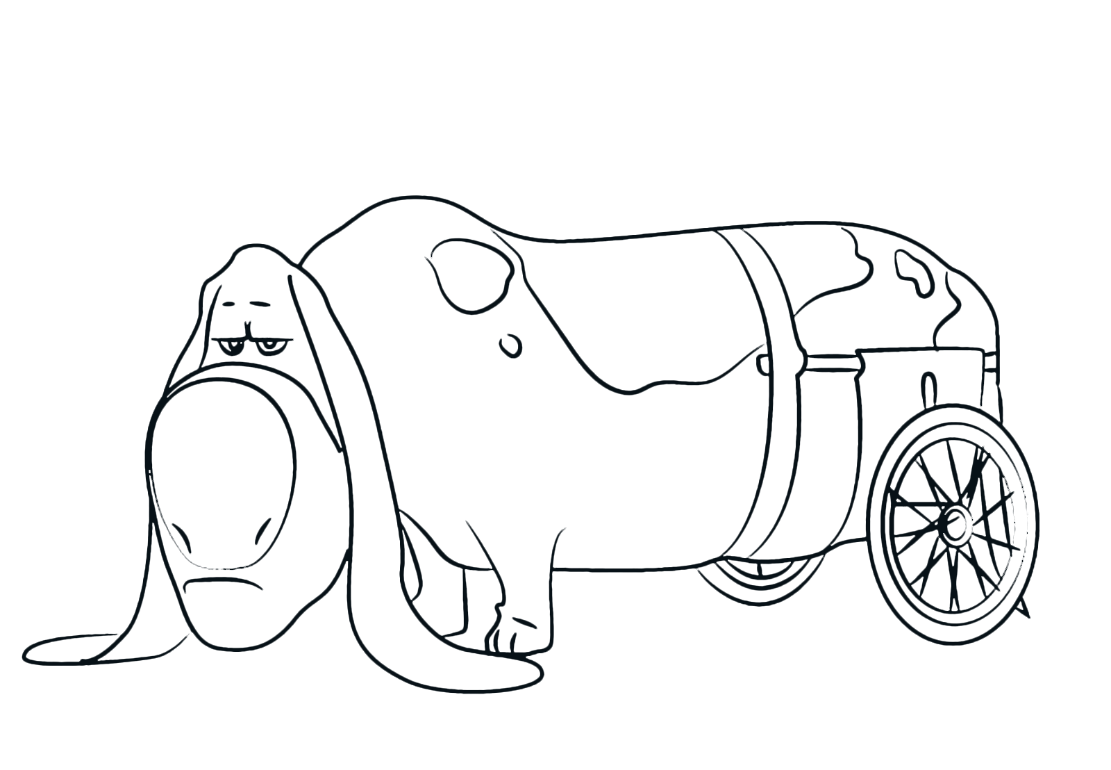 Basset Hound coloring page | Free Printable Coloring Pages | 1108x1600