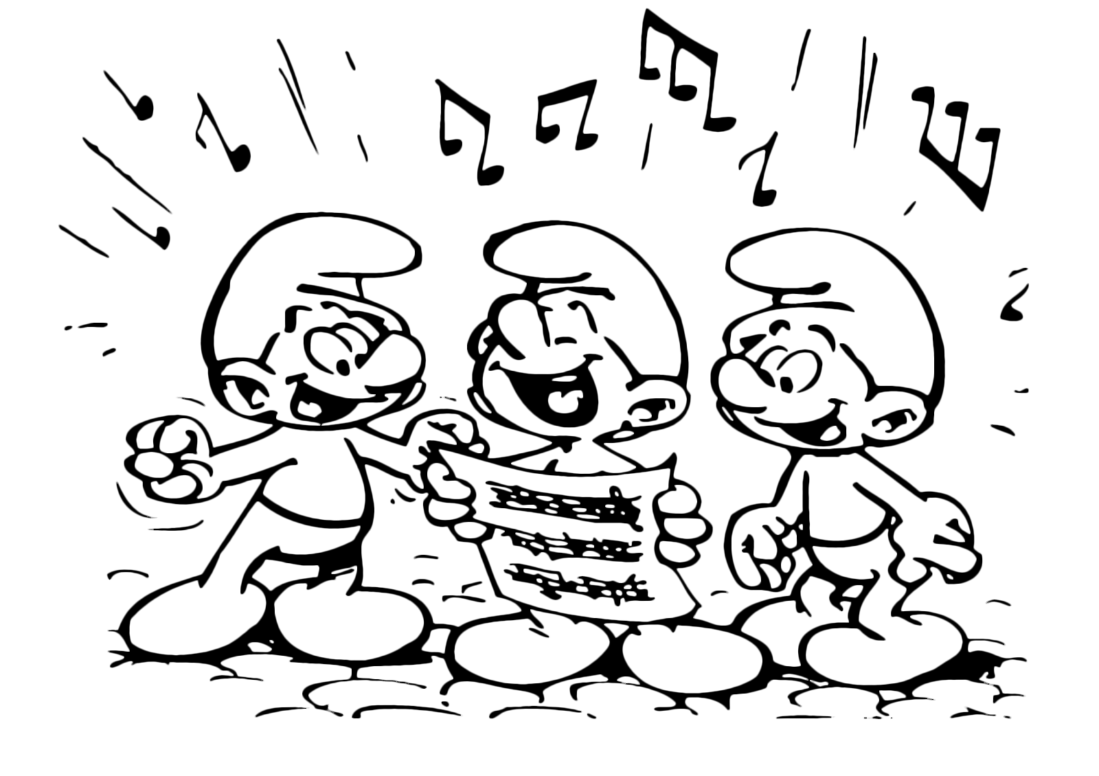 The Smurfs - The Smurfs sing in chorus