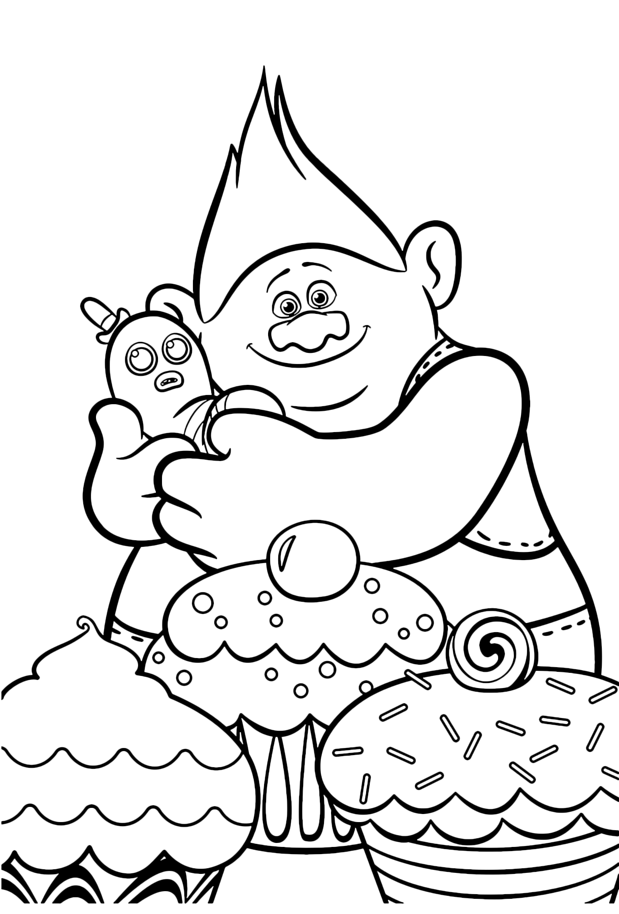 Trolls Biggie And Mr Dinkles Coloring Page