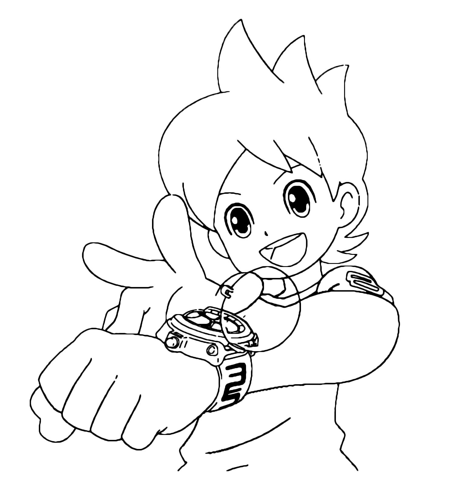 Yo Kai Watch Nate Is About To Activate The Yo Kai Watch