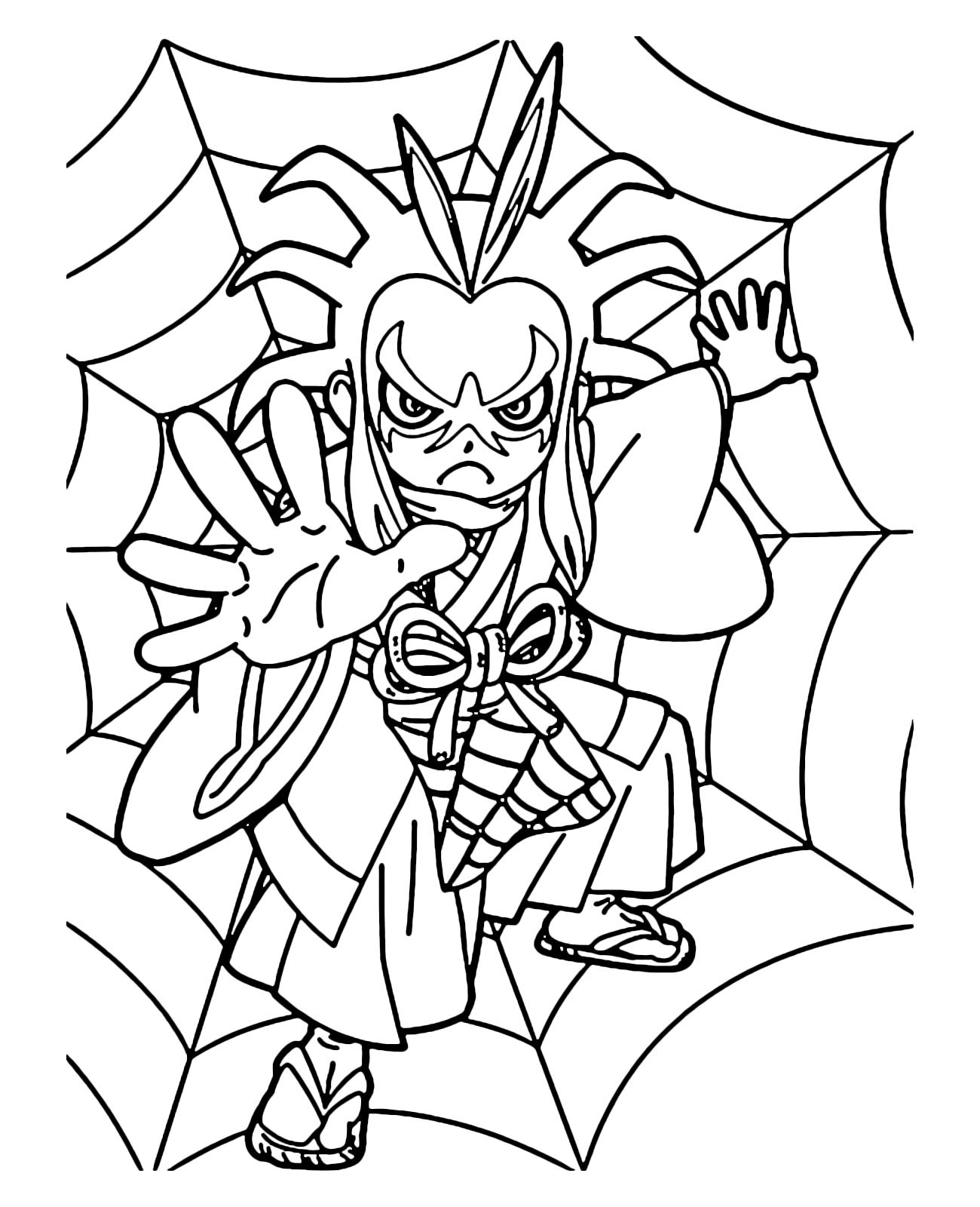 kai watch one yo kai over the spider web
