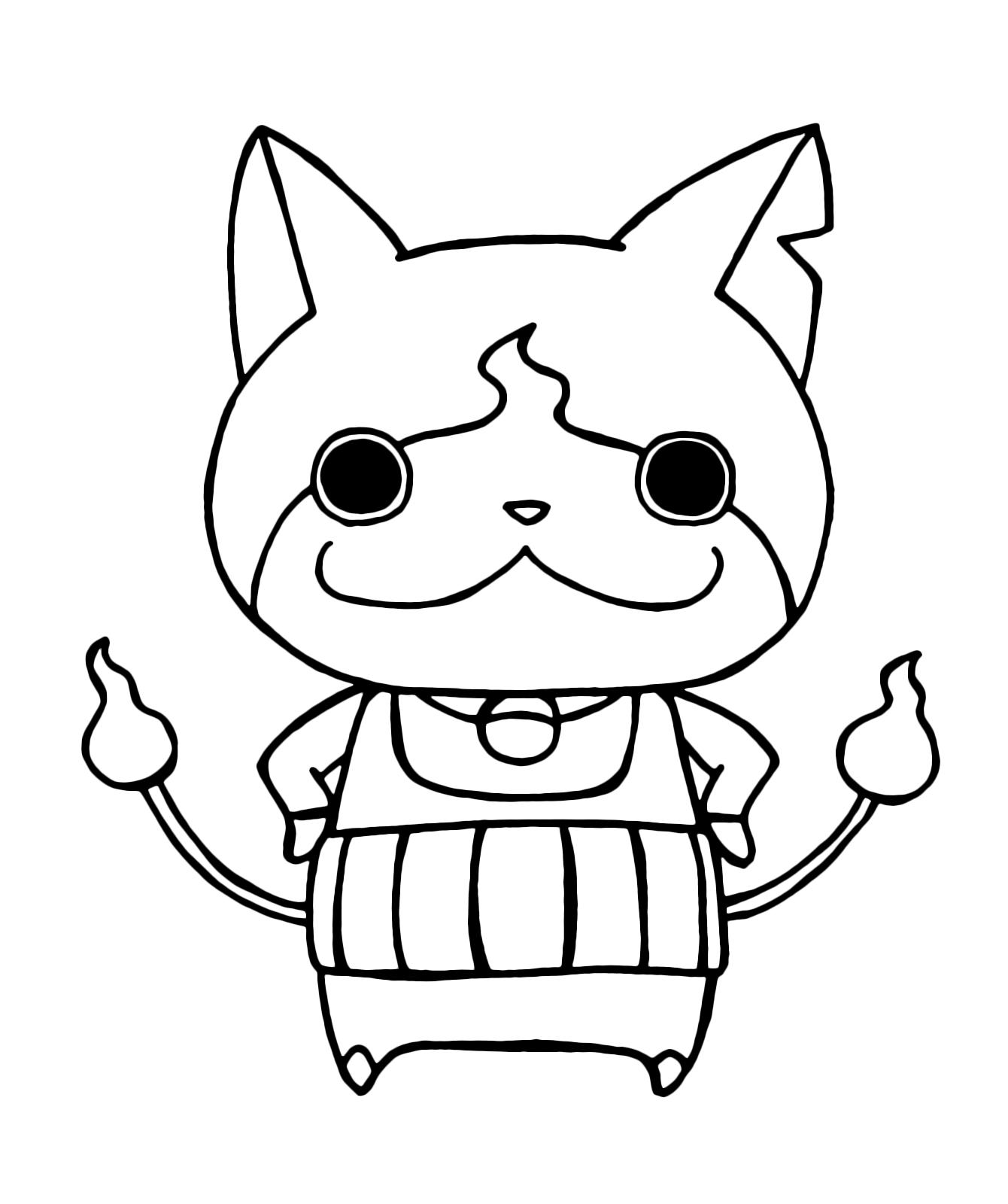 Yo Kai Watch Yo Kai Jibanyan With His Arms On His Hips
