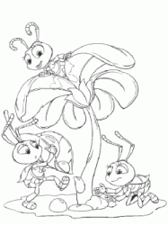 The little princess Dot and her ants friends