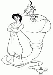 Aladdin and the genius of the lamp