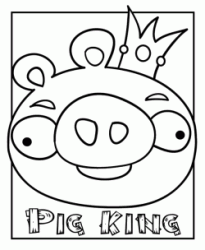 Pig King the Piggies with the crown