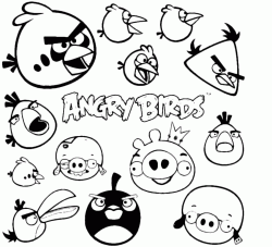 The Angry Birds with the Piggies