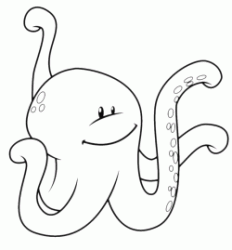 A funny octopus