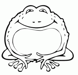 A toad smiling