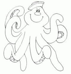 An octopus with hat