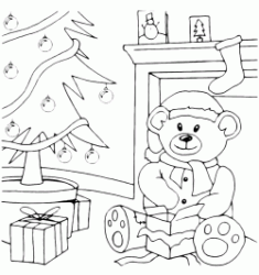 Teddy Bear at Christmas