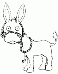Worried donkey