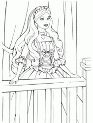 Barbie princess faces the balcony