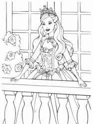 Barbie princess on the balcony