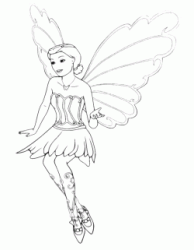 Barbie with butterfly wings