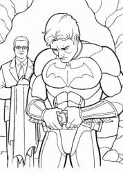 Bruce Wayne wears the Batman mask with the Alfred help