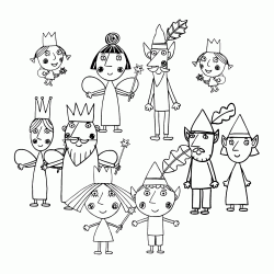 All the characters from Ben and Holly Little Kingdom