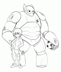 Hiro with Baymax