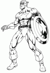 Captain America shows his muscles
