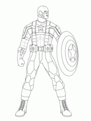 Captain America with one of his first armor