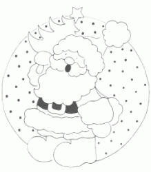 A ball with drawn Santa Claus