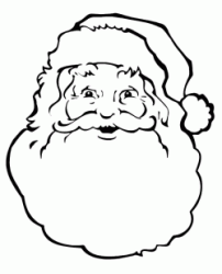 A close up of Santa Claus with his thick beard