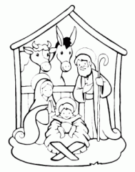 Birth of Jesus in the stable