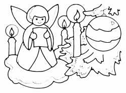 Christmas angel with adornments
