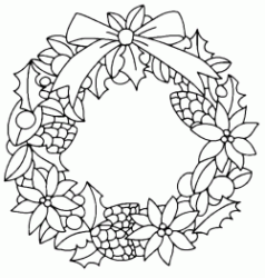 Christmas wreath to decorate doors