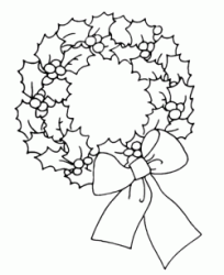 Classic Christmas wreath with bow