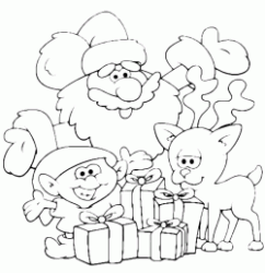 Santa Claus and his aides