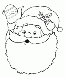 Santa Claus greetings with his hand