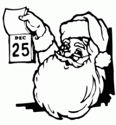 Santa Claus remembers that Christmas is December 25th