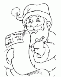 Santa Claus with the list of gifts