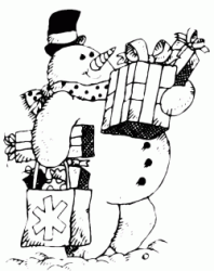 Snowman brings gifts
