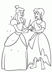 Anastasia returns the magic wand to Cinderella