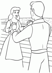 Cinderella and the Prince shake hands