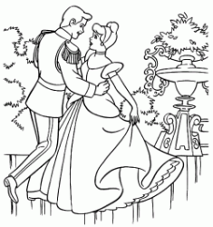 Cinderella dances with the Prince
