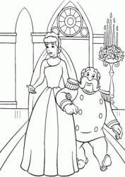 The King accompanies Cinderella to the altar