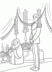 The Prince waits for Cinderella at the altar
