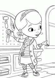 Dottie Doc McStuffins is taking the otoscope