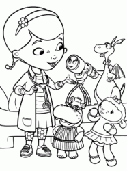 Dottie Doc McStuffins speaks with her friends