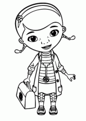 Dottie Doc McStuffins with her bag and the stethoscope