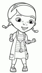 Dottie Doc McStuffins with her stethoscope