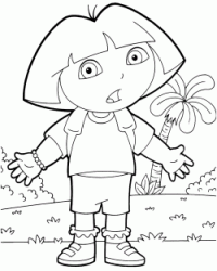 Dora has a perplexing expression