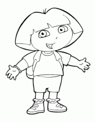 Dora standing with open arms
