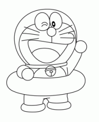 Doraemon with the life ring