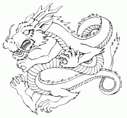 A dragon with snake body