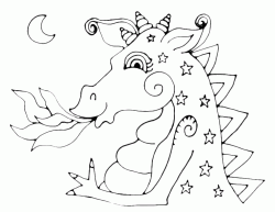 A dragon with the stars drawn on the body