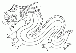 The image of a Chinese dragon