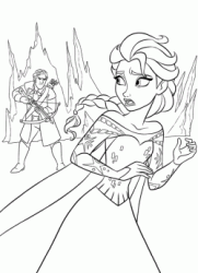 Hans wants to kill the princess Elsa